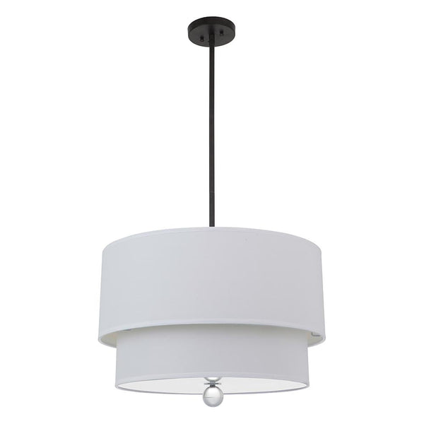 Mariana Home - Hadley Double Drum Pendant - Black Finish
