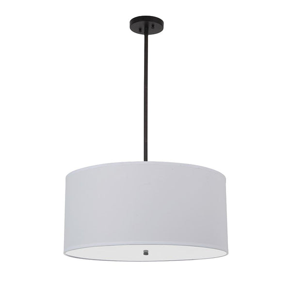 Mariana Home - Drum Pendant - Large - Black Finish