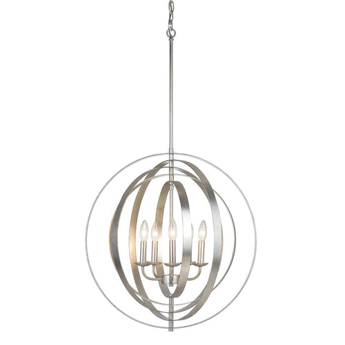 Mariana Home - Brentwood 5 Light Orb Pendant - Champagne Finish