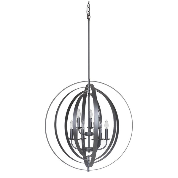 Mariana Home - Brentwood 9 Light Orb Pendant - Iron Black Finish