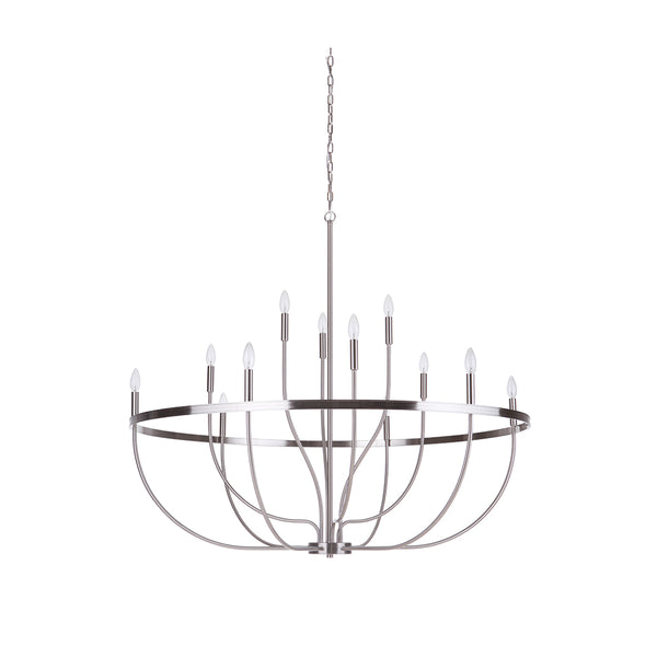 Upland 12LT Chandelier - Satin Nickel