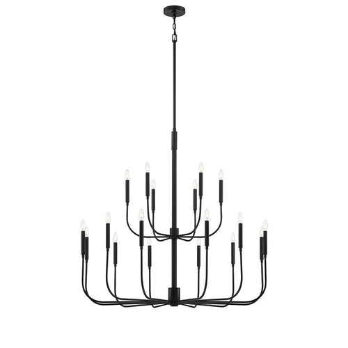 Mariana Home - Beverly 18 Lt Chandelier - Black