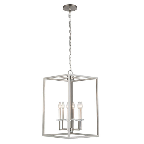 Mariana Home - Graham Six Light Pendant - Satin Nickel Finish - 600645