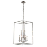 Mariana Home - Graham Nine Light Pendant - Satin Nickel Finish - 600945