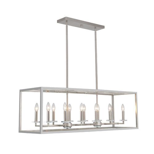 Mariana Home - Graham 12 Light Kitchen Island Pendant - Satin Nickel Finish - 601245