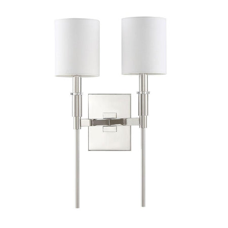 Lena 1 Light Wall Sconce - Silver Leaf