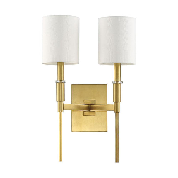 Mariana Home - Clement 2 Light Wall Sconce - Brass