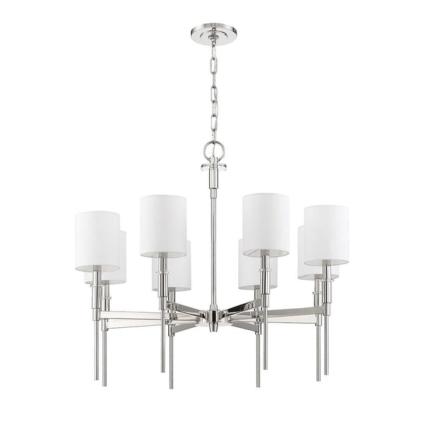 Mariana Home - Clement 8 Light Chandelier - Polished Nickel