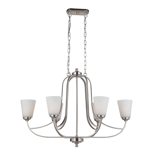 Mariana Home - Hugo 6 Light Island Chandelier - Satin Nickel