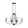 Mariana Home - Hugo 6 Light Island Chandelier - Bronze