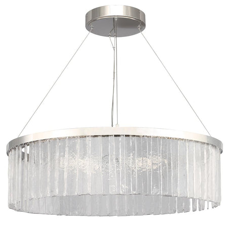 Blossom 1 Light Glass Pendant - Satin Nickel