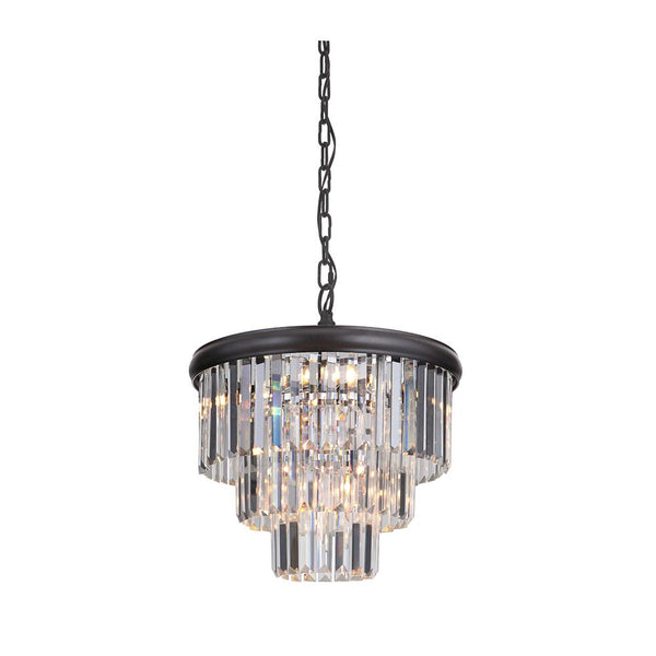 Mariana Home - Art Deco 10 Light Chandelier - Large - Bronze Finish