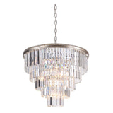 Mariana Home - Art Deco 10 Light Chandelier - Large - Silver Leaf Finish