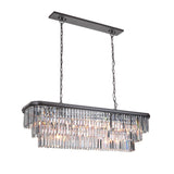 Mariana Home - Art Deco Island Chandelier - Bronze Finish