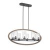 Mariana Home - Portland 8 Light Island Pendant Chandelier - Wood and Aged Iron Finish
