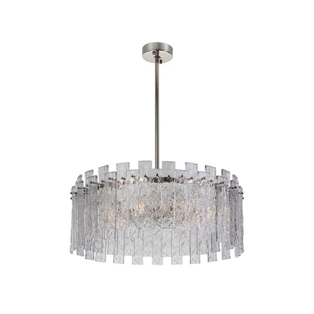 Ellis 6 Light Chandelier - Bronze + Brass