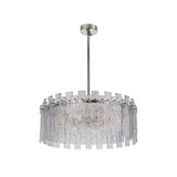 Isling 8 Light Pendant - Polished Nickel Finish