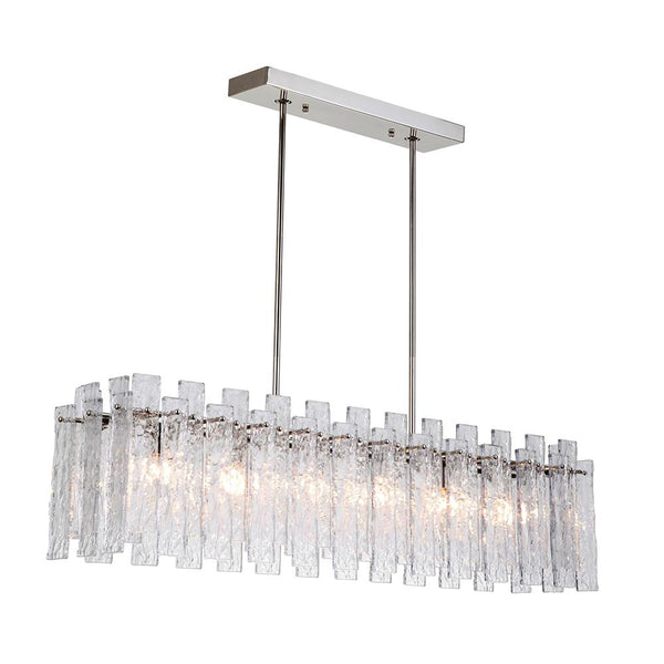 Isling 6 Light Island Pendant - Polished Nickel Finish