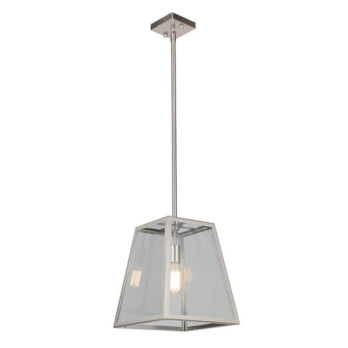 Branson 1 Light Pendant - Satin Nickel Finish - Mariana Home