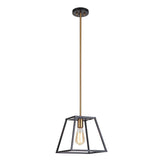 Mariana Home - Parkville 1 Light Pendant - Black and Gold Finish