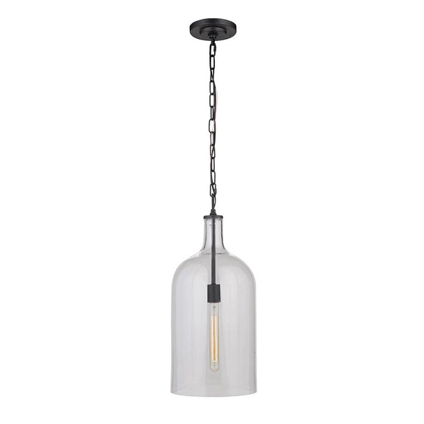 Mariana Home - London 1 Light Pendant - Black Finish