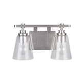 Mariana Home - Isben 2 Lt Vanity - Satin Nickel