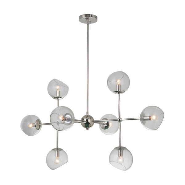 Mariana Home - Baltic 8 Light Chandelier - Polished Nickel Finish