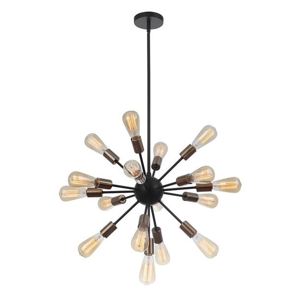 Golding 17 Light Pendant - Bronze and Brass Finish
