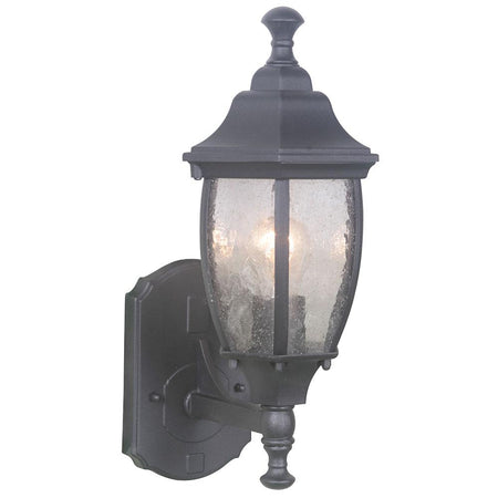 Crandall 3 Light Outdoor Post Mount Lantern - Black