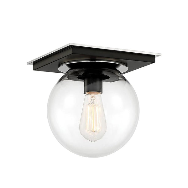 Mariana Home - Bubble 1LT Flush Mount - Black & Polished Nickel