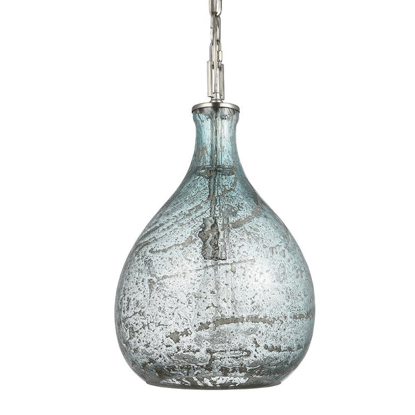 Mariana Home - Zephyr Glass Pendant - Art Glass and Satin Nickel Finish