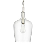 Mariana Home - Blosson 1 Light Glass Pendant - Art Glass and Satin Nickel Finish