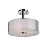 Mariana Home - Brooklyn 3 Light Semi Flush Mount - Chrome Finish