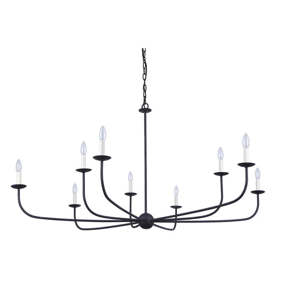 Mariana Home - Illixur 9 Lt Chandelier - Black