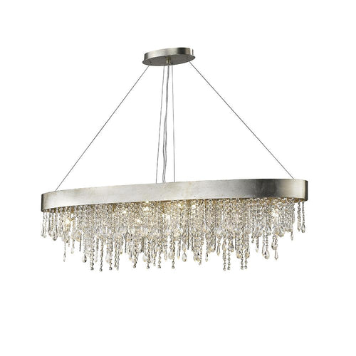 Mariana Home - Nova Kitchen Island Pendant - Silver Finish - Crystal Accents - 101414