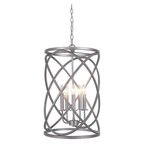 Mariana Home - Owen Lantern - Antique Silver Leaf Finish - 105582