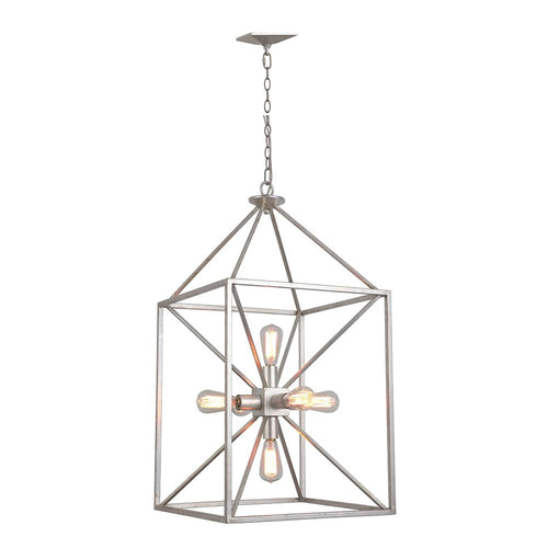 Mariana Home - Zahara Lantern - Antique Silver Leaf Finish - 106614