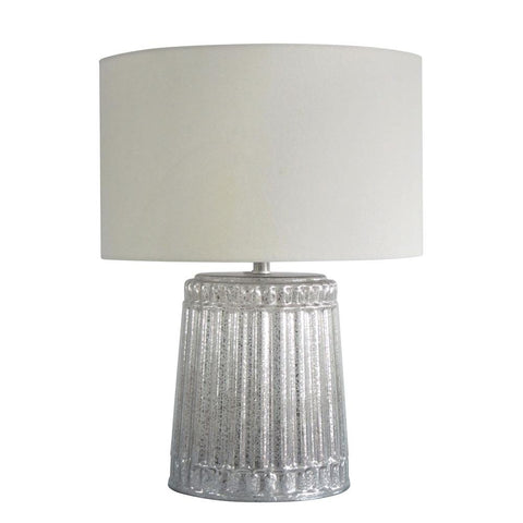 Column Mercury Glass Table Lamp