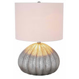 Mariana Home - Silver Sea Urchin Table Lamp - Coastal - 125005