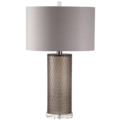 Mariana Home - Smokey One Light Table Lamp - Taupe Art Glass - 130031