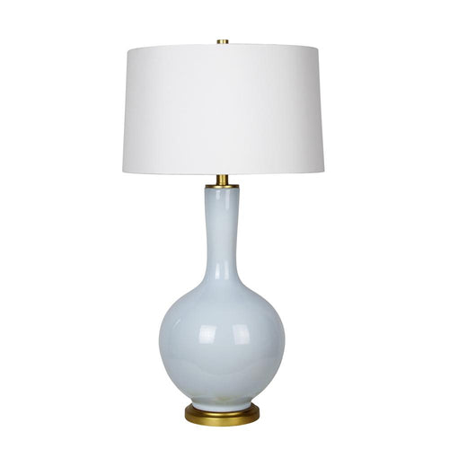 Mariana Home - Daphne One Light Table Lamp - Blue Ceramic - Gold Leaf Finish - 130033