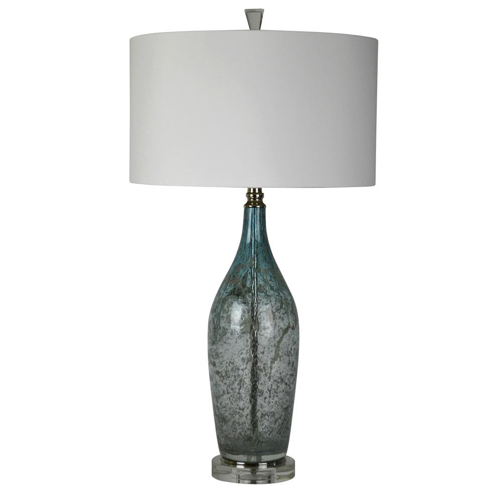 Table lamps mariana home mariana home deidra one light table lamp blue art glass 130034 geotapseo Gallery
