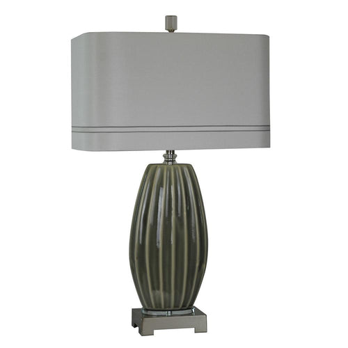 Mariana Home - Delilah One Light Table Lamp - Grey Ceramic - 130037