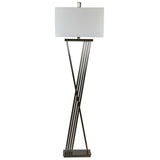 Mariana Home - Theo One Light Floor Lamp - Gunmetal Finish - 130038