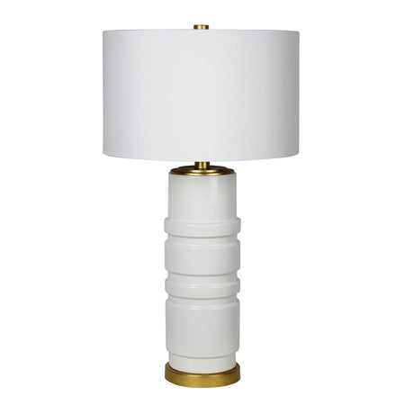 Celine Table Lamp - Silver Leaf