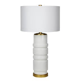 Mariana Home - Eliza One Light Table Lamp - White Ceramic and Gold Leaf - 130040