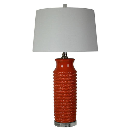 Mariana Home - Camden One Light Table Lamp - Red Ceramic - 130041