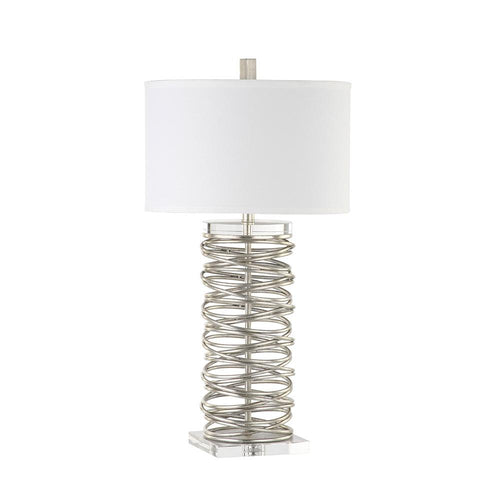Mariana Home   Spiral Table Lamp   Silver Leaf Finish   130055