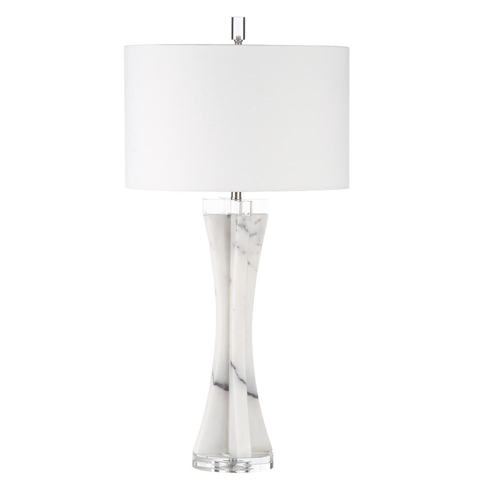 Cynthia Table Lamp White Marble Mariana Home