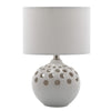 Mariana Home - White Ceramic Eyelet Table Lamp - 140027